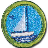 Small-Boat Sailing Badge Image